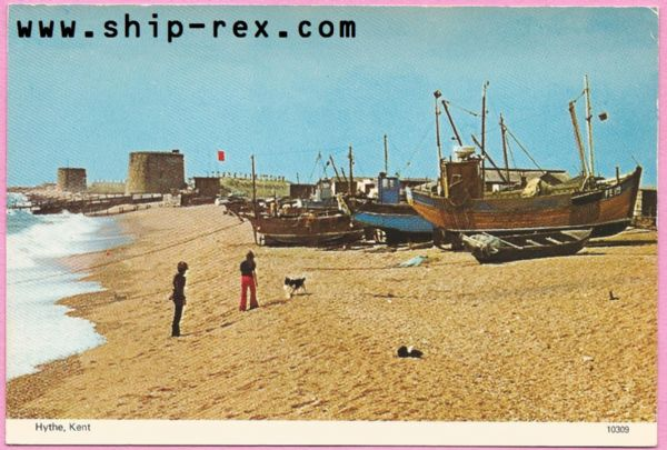 Hythe, Kent, Fishing Boats - postcard